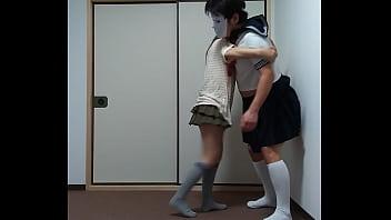 Вагинальный трах с татуированной медсестричкой в красном белье